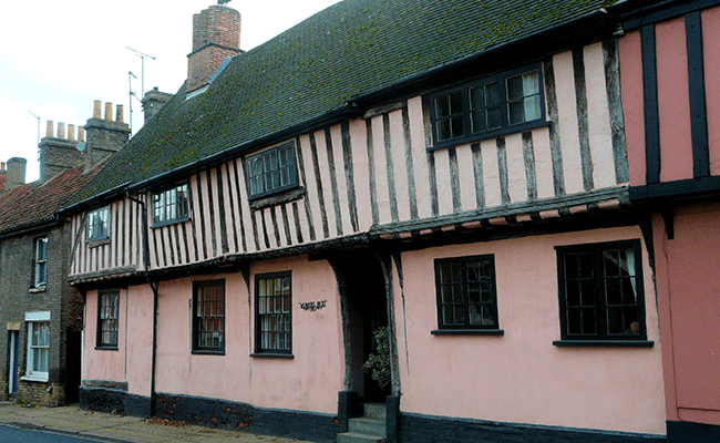 Large Tudor houses in Suffolk